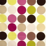 Bright accent fabrics with neutrals