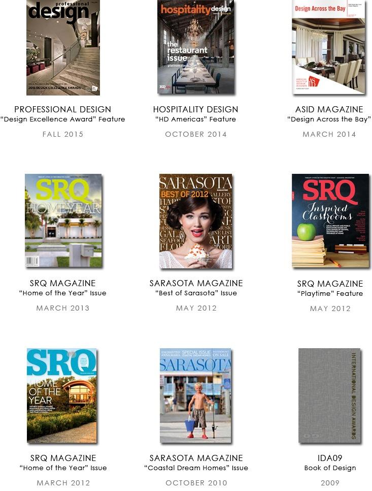 Sarasota interior designer Space as Art press features