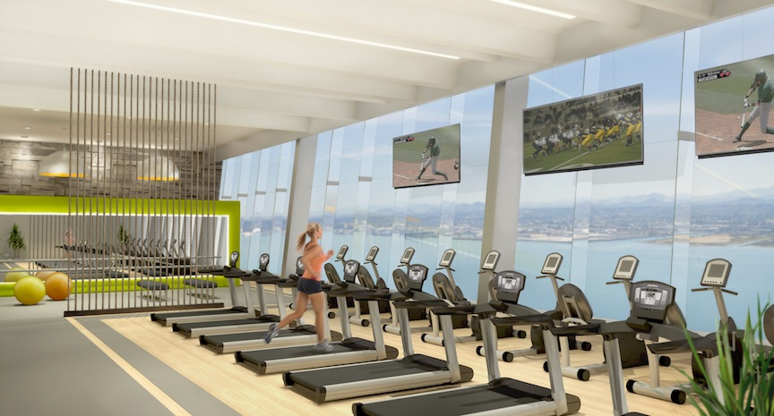 RESORT FITNESS CENTER With a view