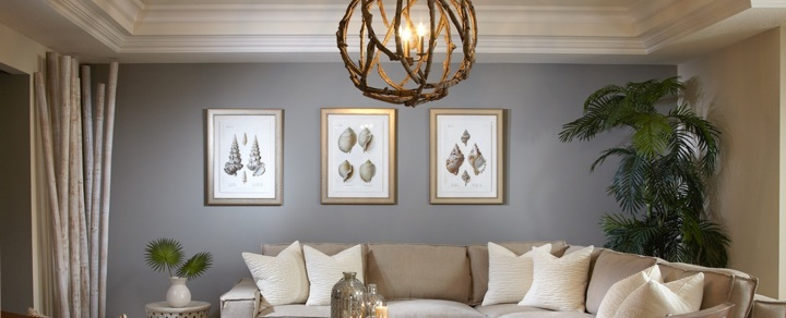 Round lighting by Sarasota interior designer Space as Art